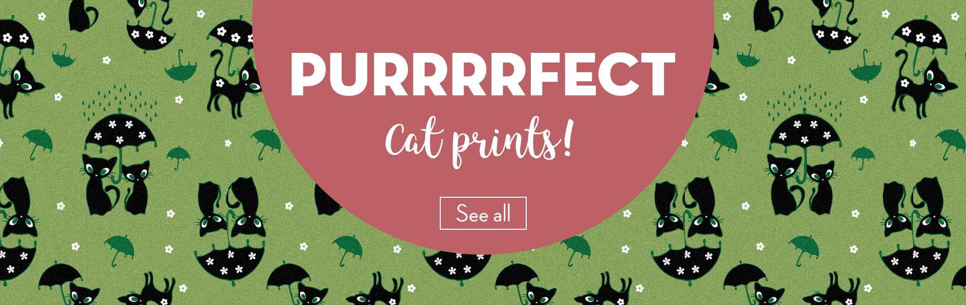 Cat print dress cardigan