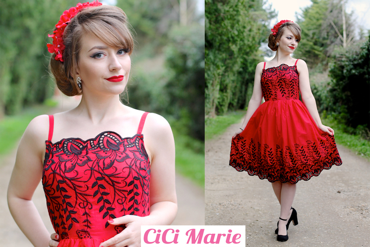 Cici Marie Scarlet Dress by Voodoo Vixen