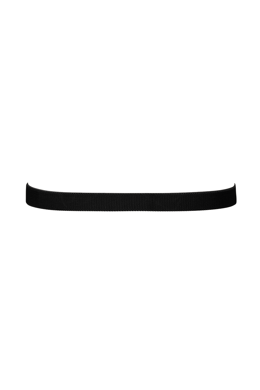Decorative Pearl Belt Black