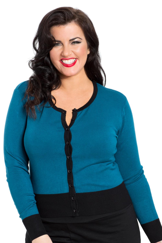 Chrissy Plus Size Blue Floral Cardigan