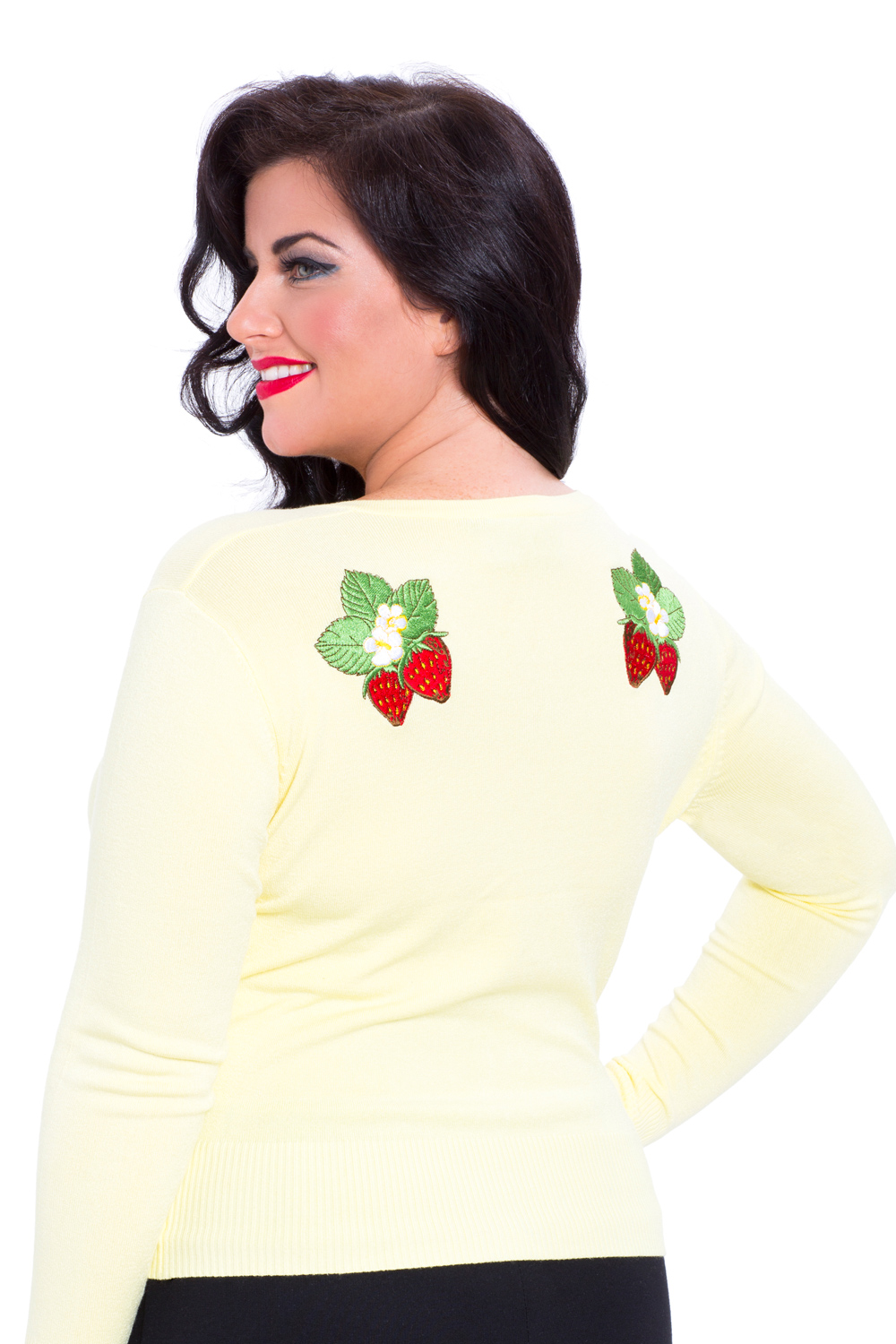 Cresida Pastel Yellow Plus Size Cardigan