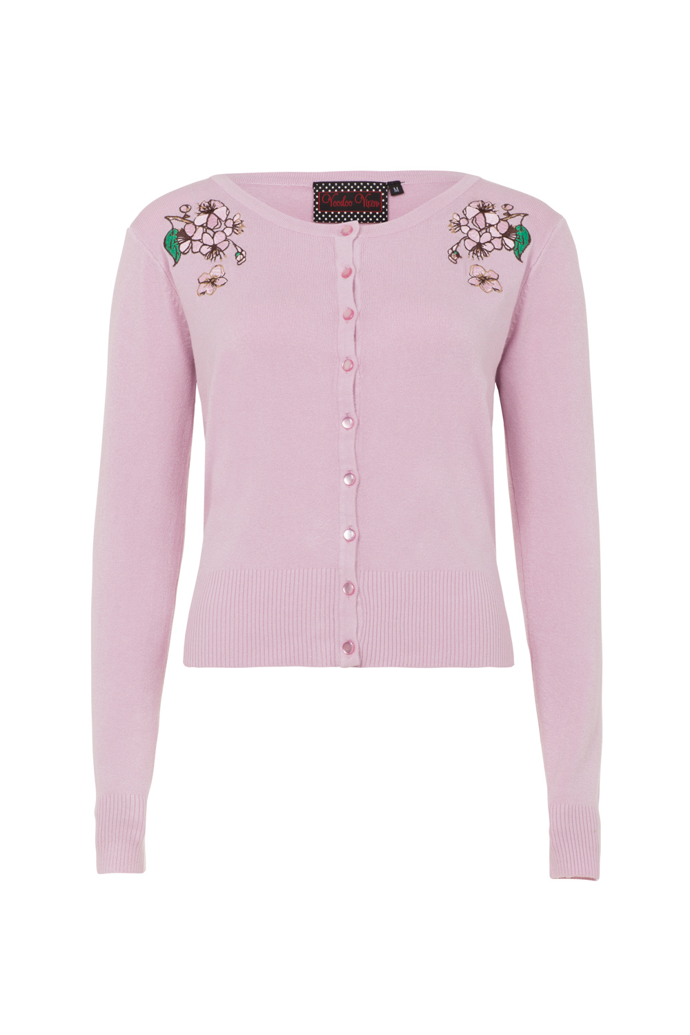 Rosamund Pink Embroidered Plus Size Cardigan