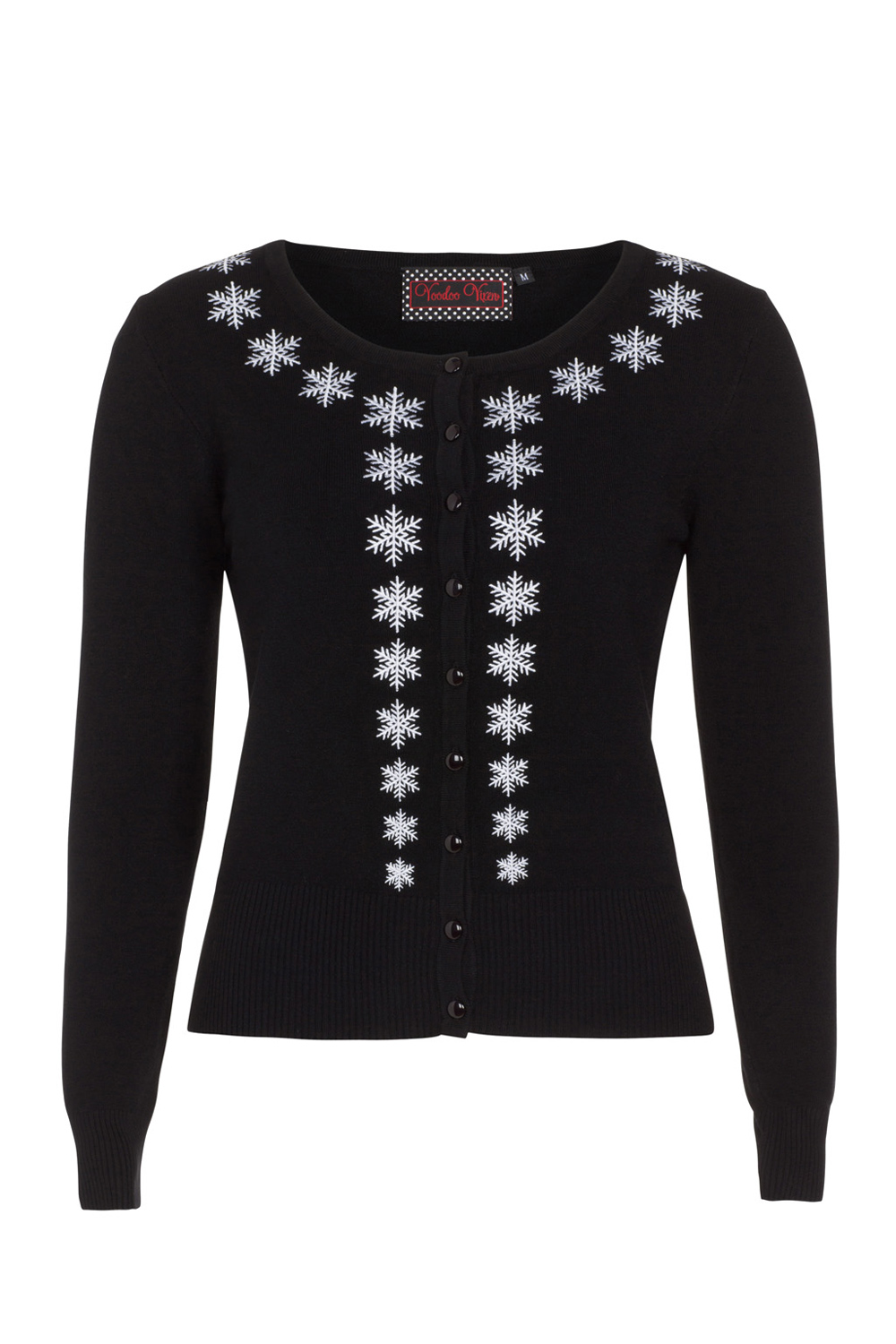 Lourdes Snowflake Embroided Cardigan