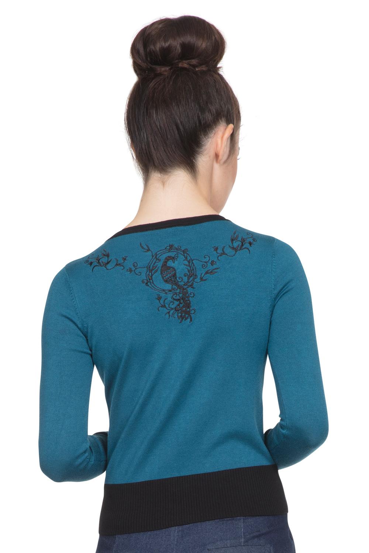 Tammy Blue Peacock Cardigan