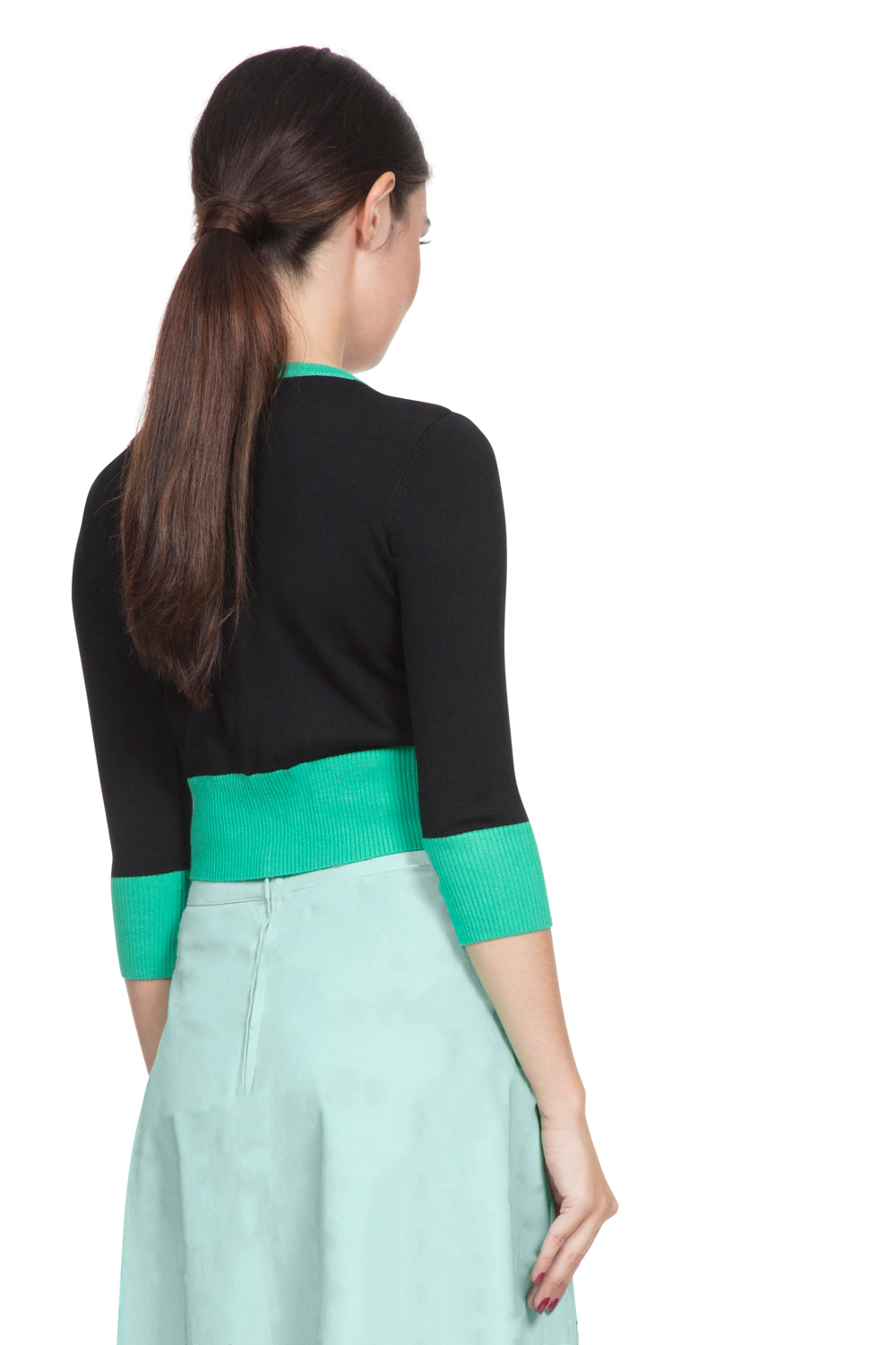 Jade Cropped Cat Cardigan