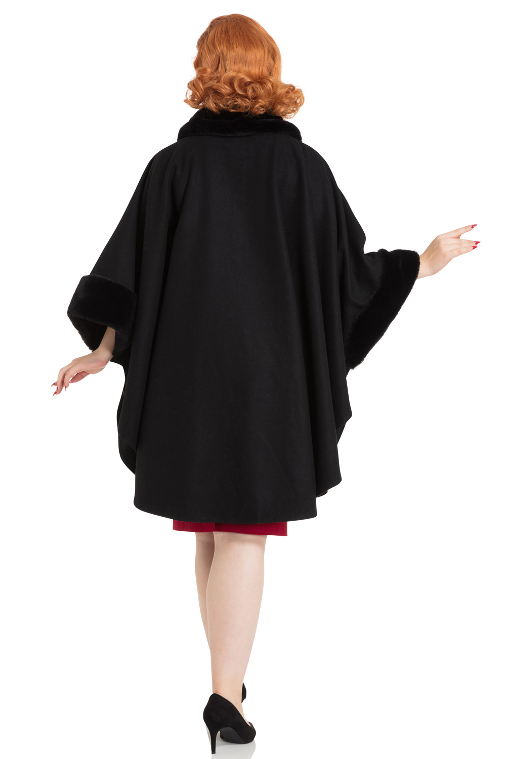 Melrose Fur Trim Cape