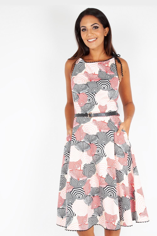 Bettie Parasole Print Dress