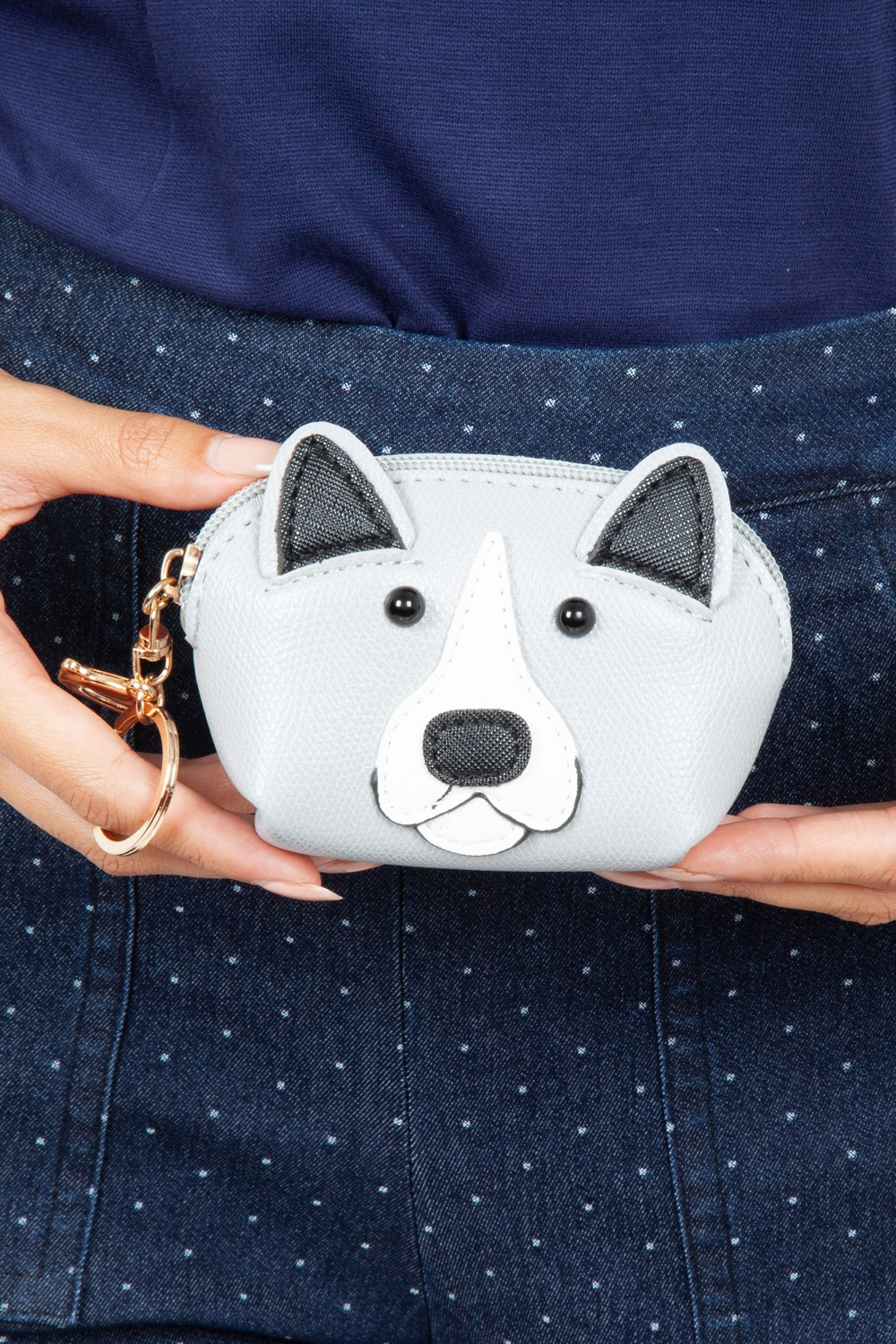 Hector Dog Coin Purse in Grey