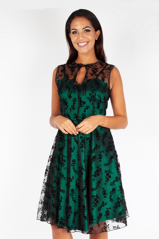 Penny Green Taffeta & Lace Dress