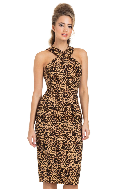 Lauren Leopard Pencil Dress
