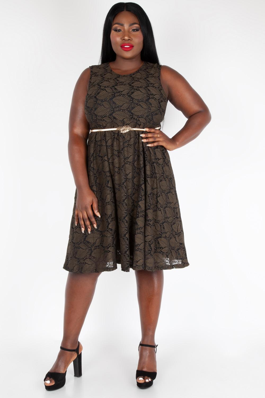 e4e7d08fa121 Sophia Vintage Inspired Leaf Plus Size Dress