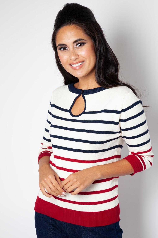 f2f783f355e Emery Stripe Keyhole Sweater