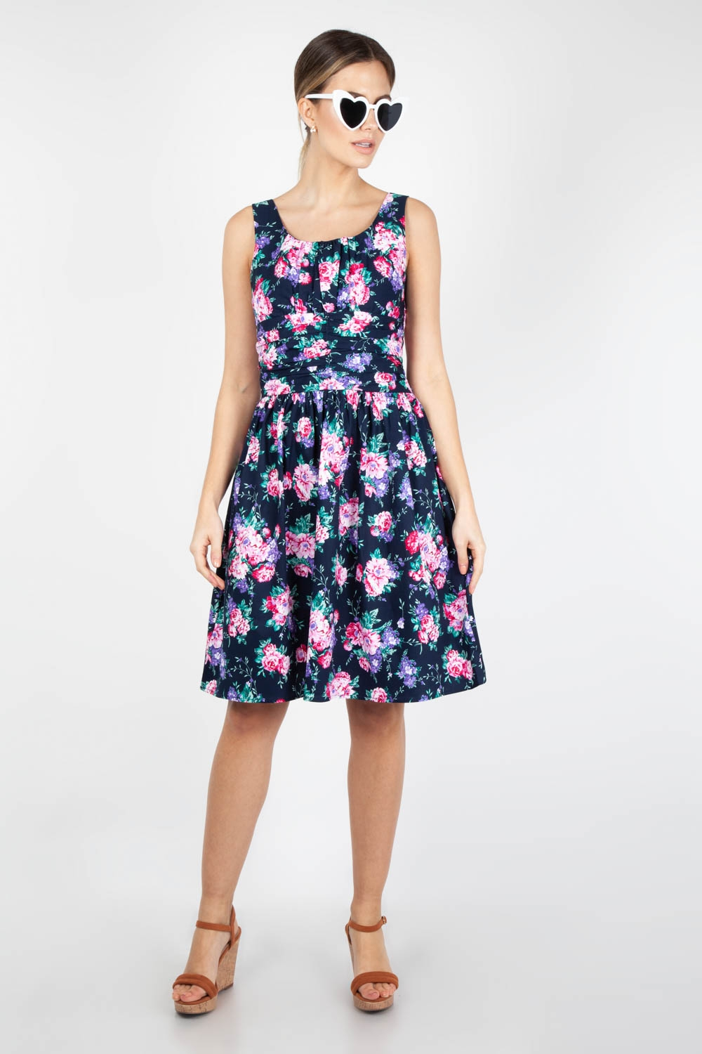 76cd3204e01 Ethal Navy Floral Summer Dress