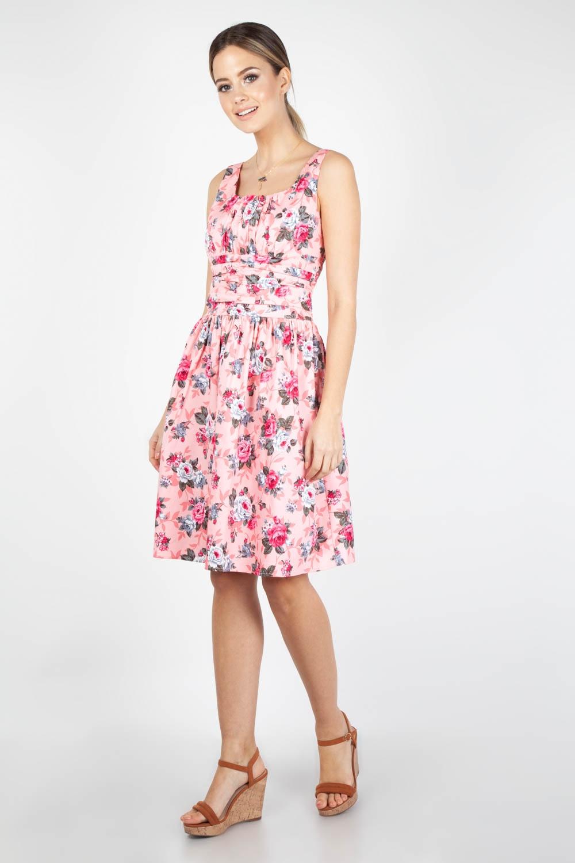 63fb70ab461 Ethal Pink Floral Summer Dress