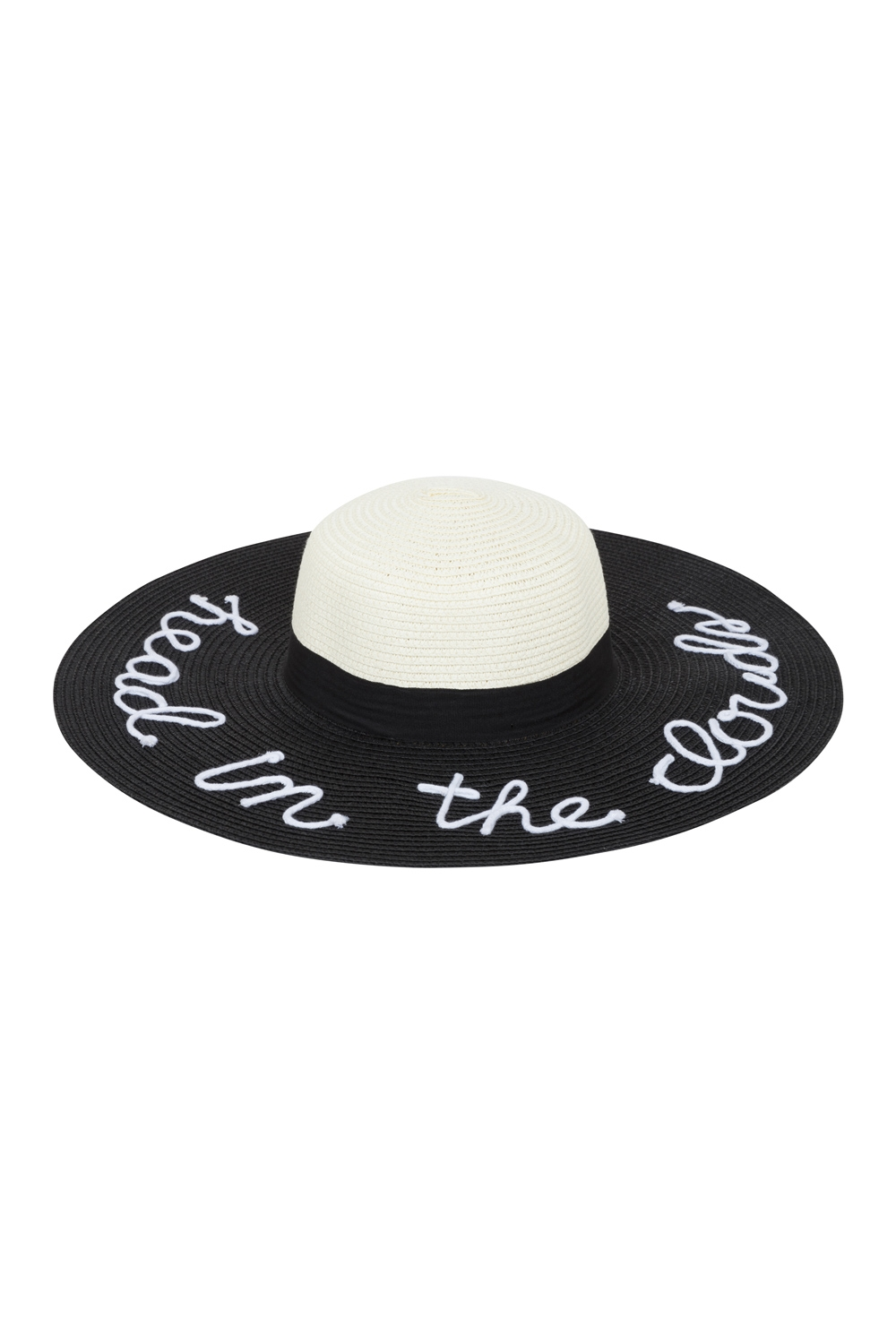 Head In The Clouds Sunhat Black