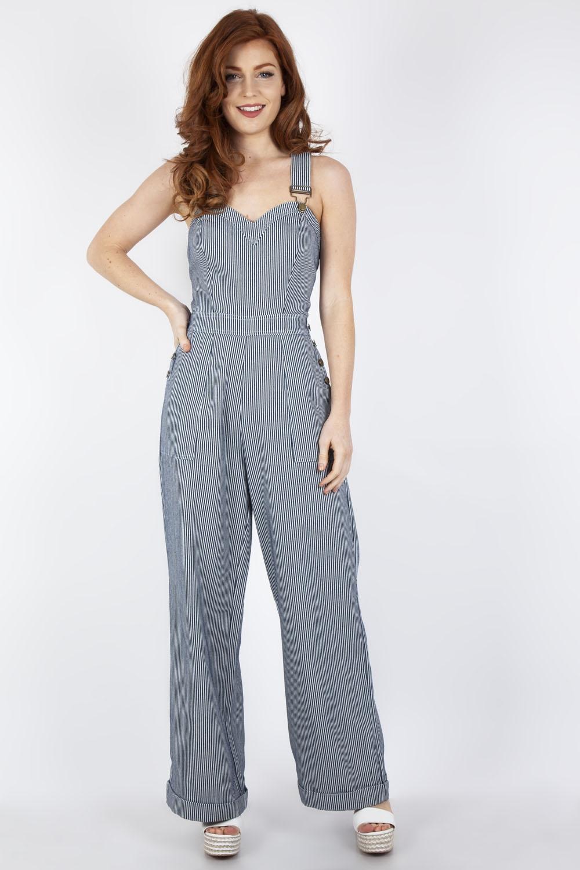32467a45561 Margaret Stripe Wide Leg Overalls