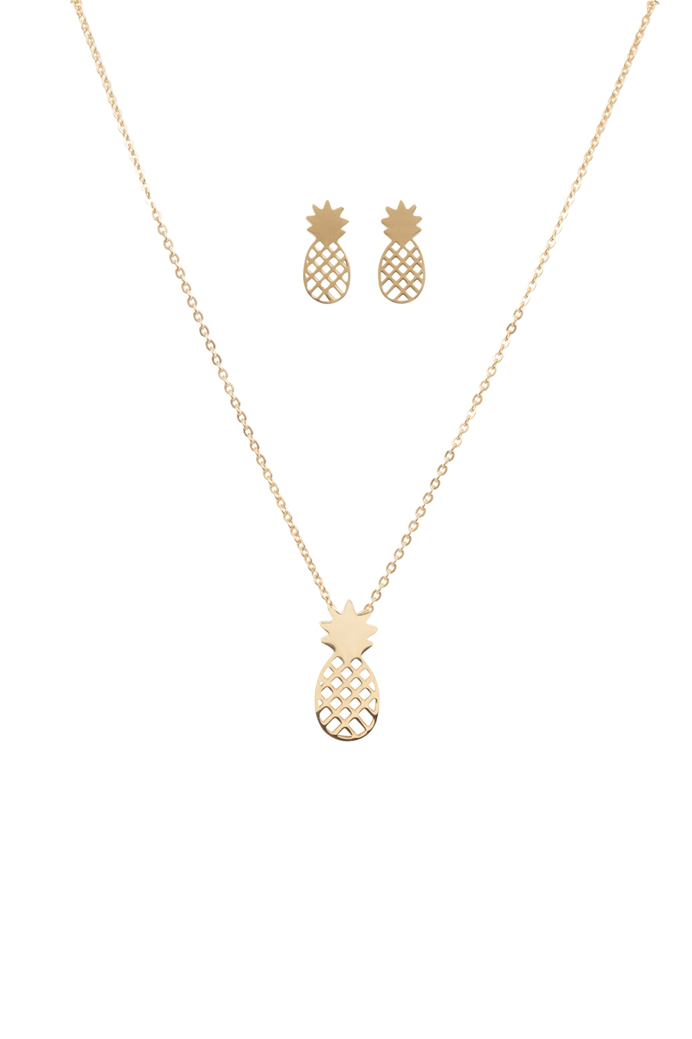 Pineapple Earring & Necklace Set