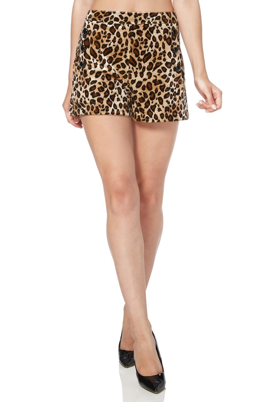 Cilla Leopard Print Shorts