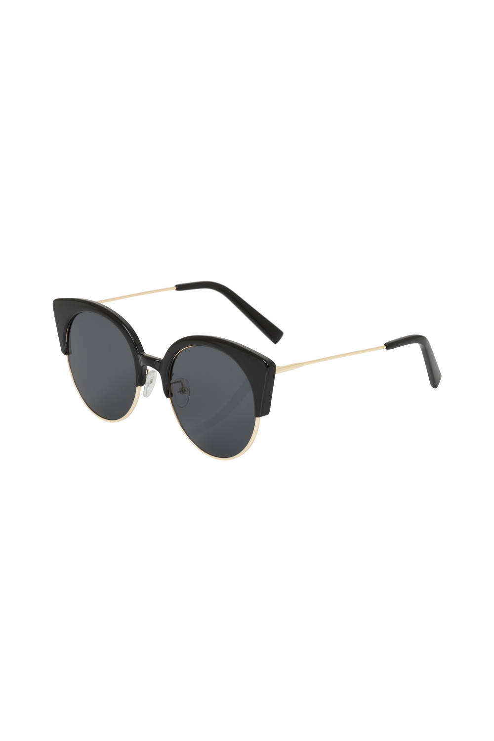 bf84116bce Retro Cat Eye Clubmaster Sunglasses Black