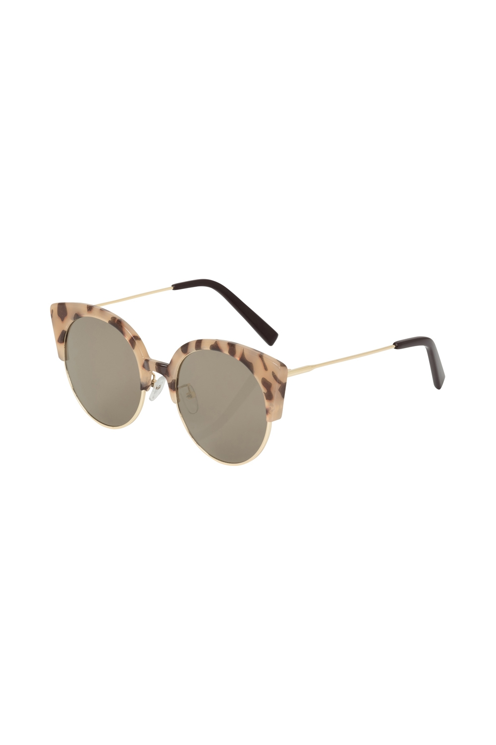 Retro Cat Eye Clubmaster Sunglasses Leopard
