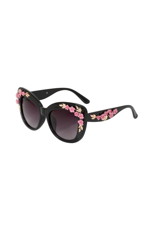 87b7c75791 Decorative Floral Glasses Black