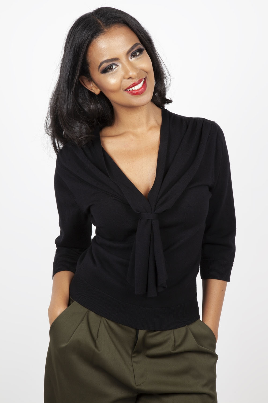 Lauren Black Knitted Sweater