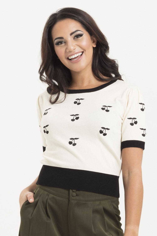 Clara Cherry Cream Sweater