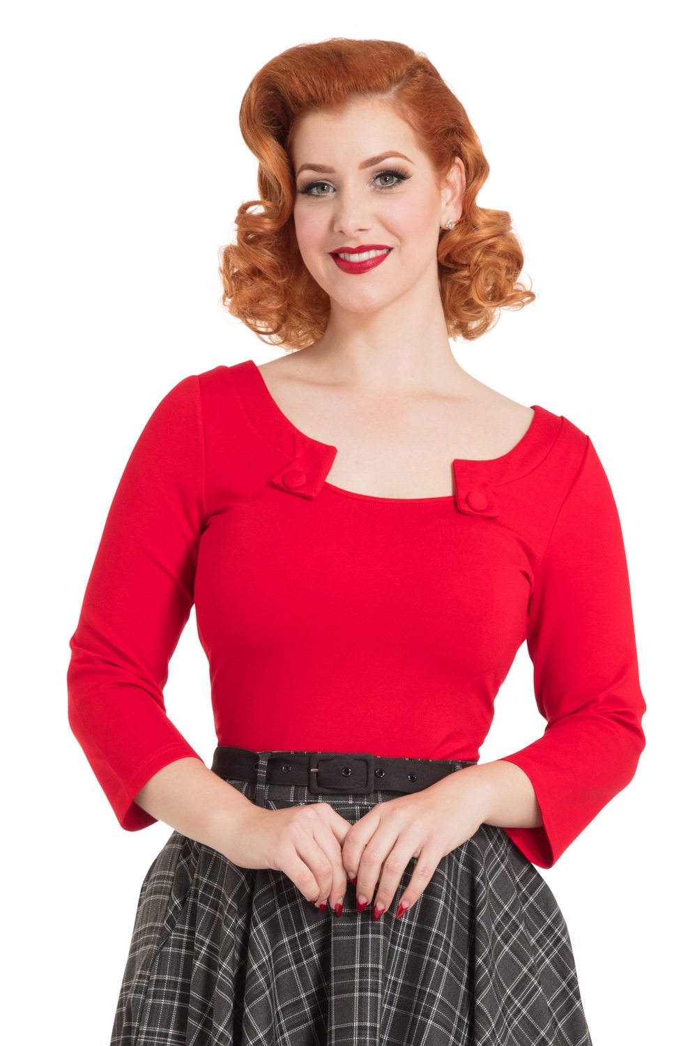 Sophie Red Knited Top
