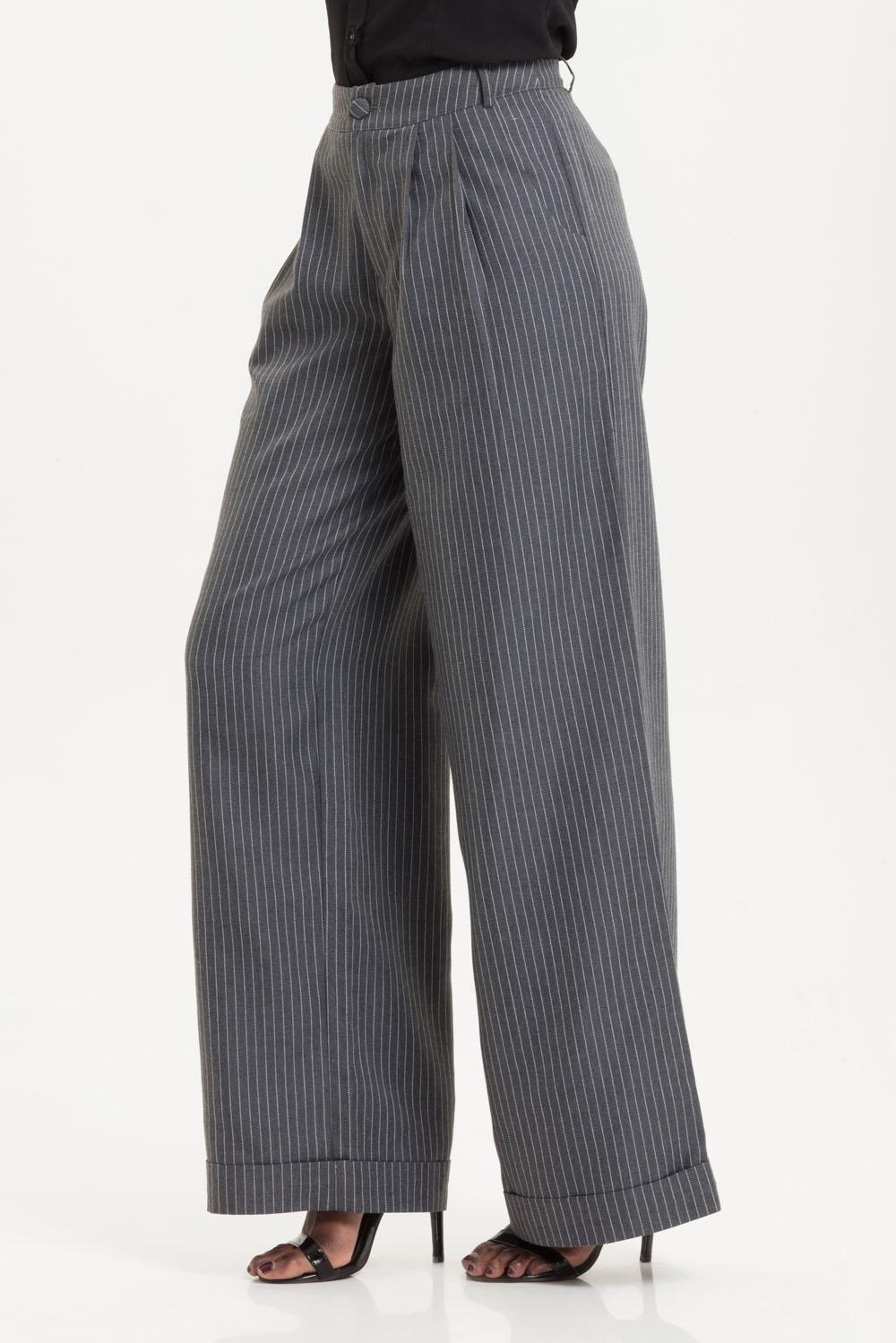Pippa Pin Stripe Trousers