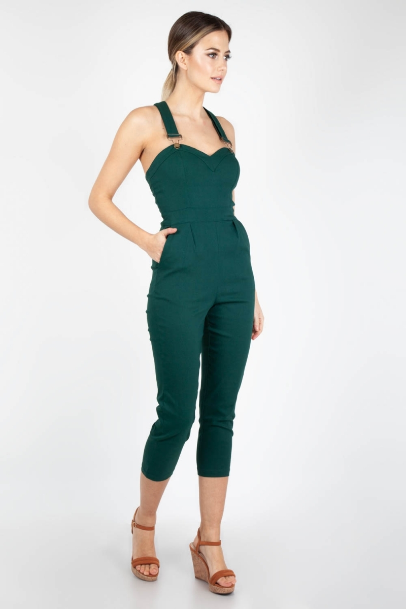 100% quality professional sale custom Voodoo Vixen Vintage Inspired Connie Fitted Capri Overalls ...