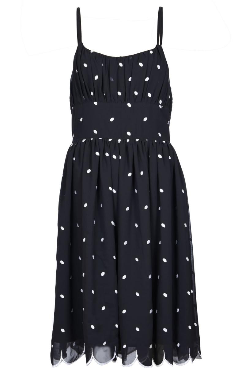 Voodoo Vixen Vintage Inspired Dotty Polka Dot Flared Dress