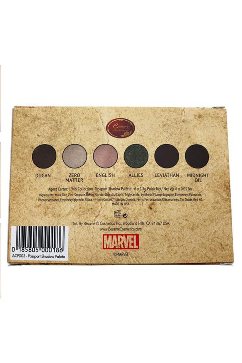 Agent Carter Passport Shadow Palette by Bésame