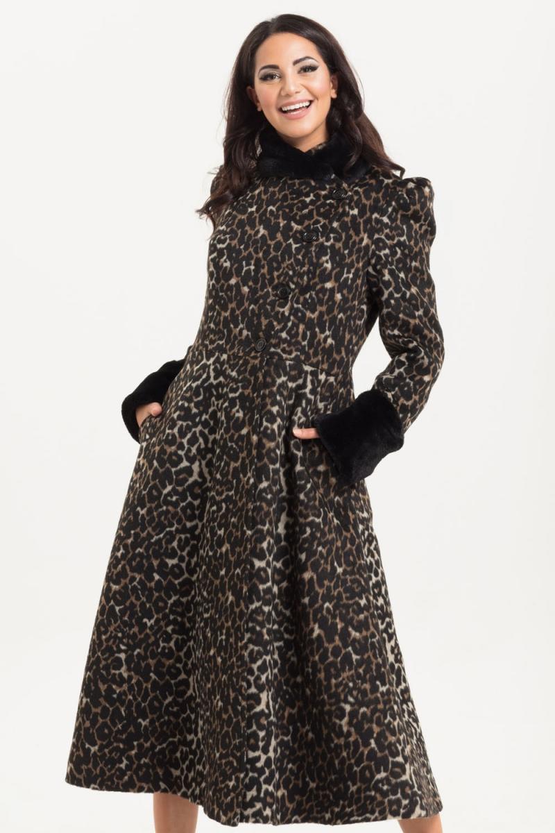 Voodoo Vixen Vintage Inspired Violet Faux Fur Trim Leopard