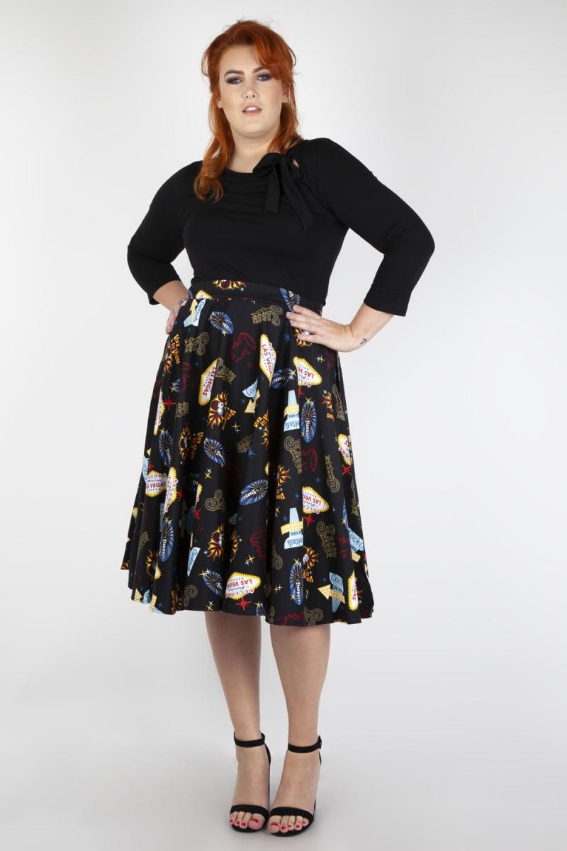 Pippa Las Vegas Plus Size Skirt | Vintage Inspired Fashion ...