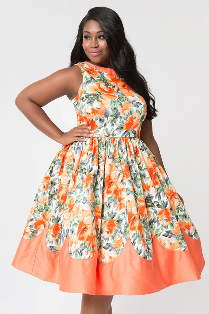 Detroit Plus Size Dress by Unique Vintage | Vintage Inspired Fashion ...