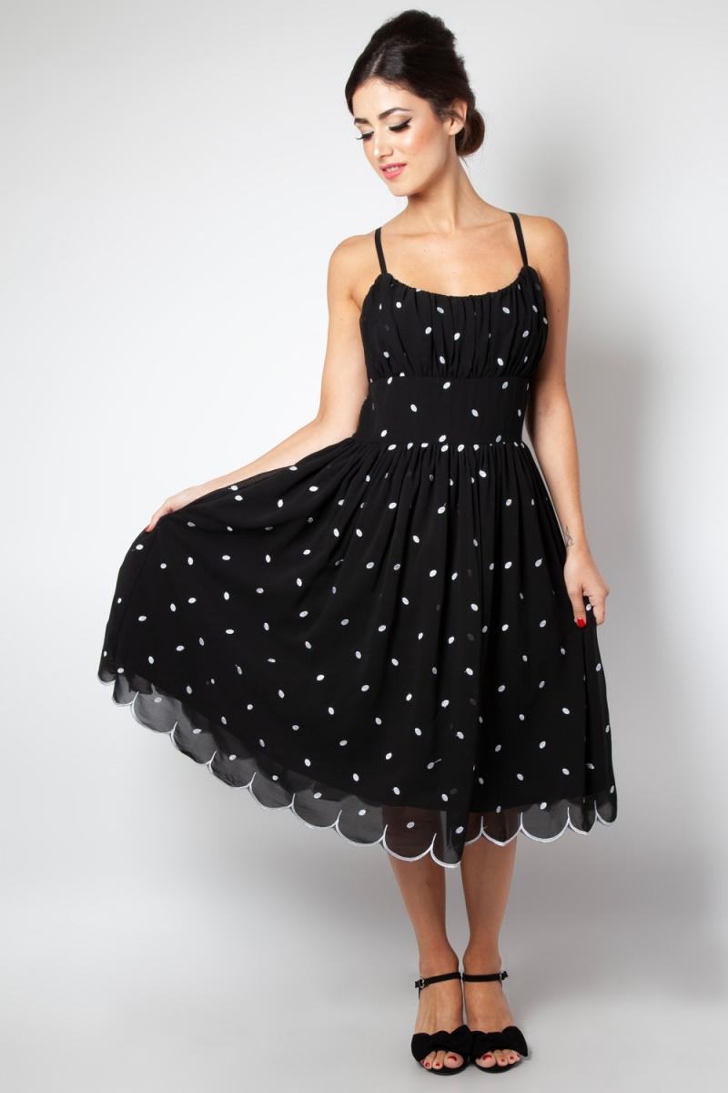 642eb1c639e0 Dotty Polka Dot Flared Dress | Vintage Inspired Fashion ...