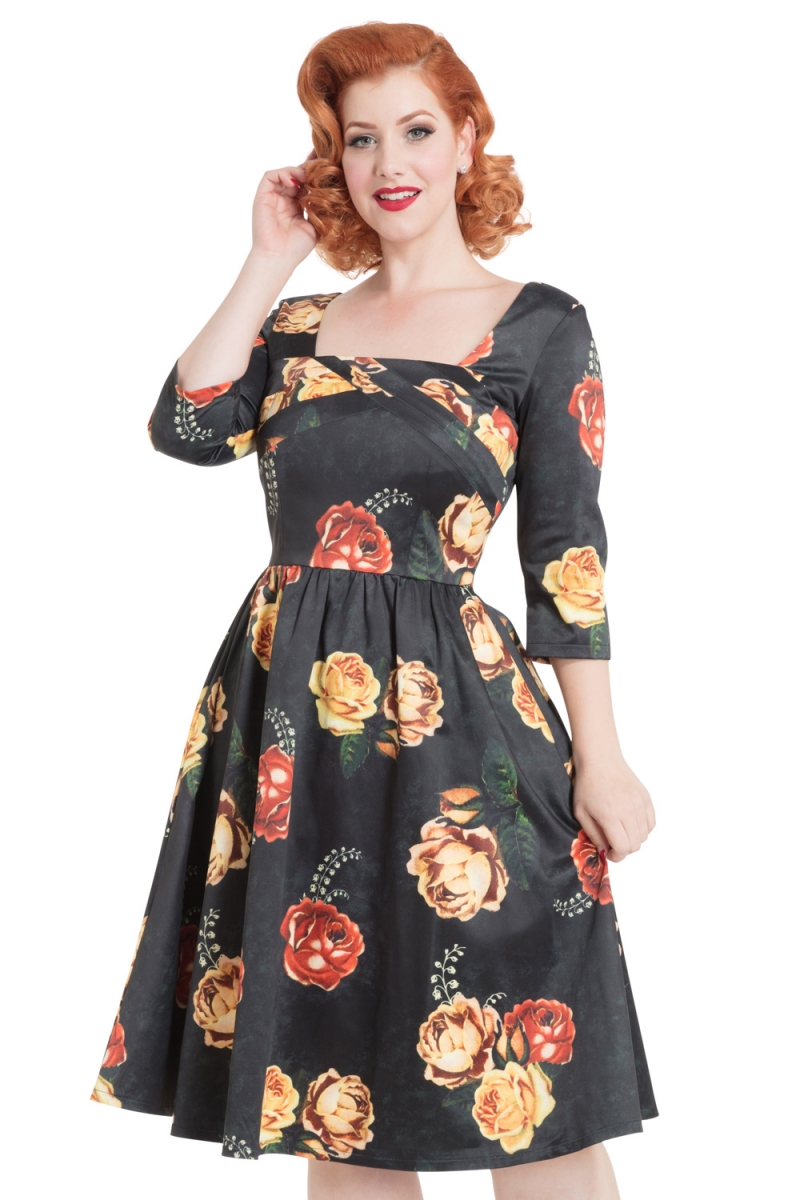 5161149e653f Meg Floral Swing Dress | Vintage Inspired Fashion & Accessories ...