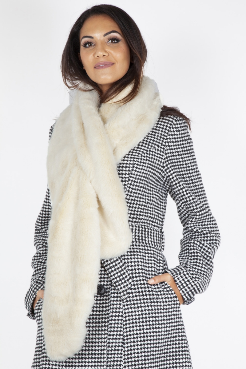 b244c4aa8 Cream Faux Fur Stole | Vintage Inspired Fashion & Accessories | 40s ...