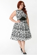 Bella Plus Size Damask Dress by Unique Vintage