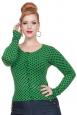 Wylie Green Polka Dot Cardigan