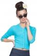 Mavis Blue Cropped Cardigan