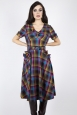 Camilla Plaid Flare Dress