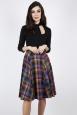 Camilla Pleated Plaid Skirt