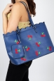 Carla Cherry Scalloped Handbag