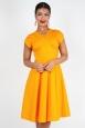 Delia Polka Dot Dress in Mustard