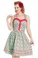Dotty Ladybird Flared Dress