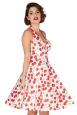 Sybll Cherry Print Halterneck Dress