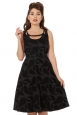 Trinity Flared Feather Flocked Dress