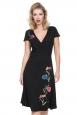 Primrose Black Wrap Dress