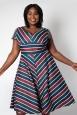 Addison Striped Swing Plus Size Dress